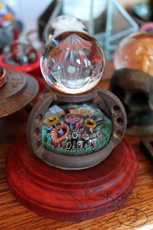 Greg Grease Custom Made Stand Trey Cornette Seafloor Disk Kobuki Jellyfish Opal Marble