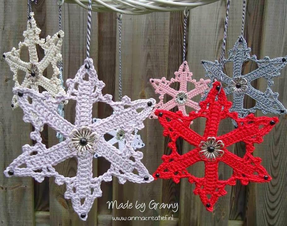 Grannys Haakblog Ijskristallen Met Patroon Haken Crochet