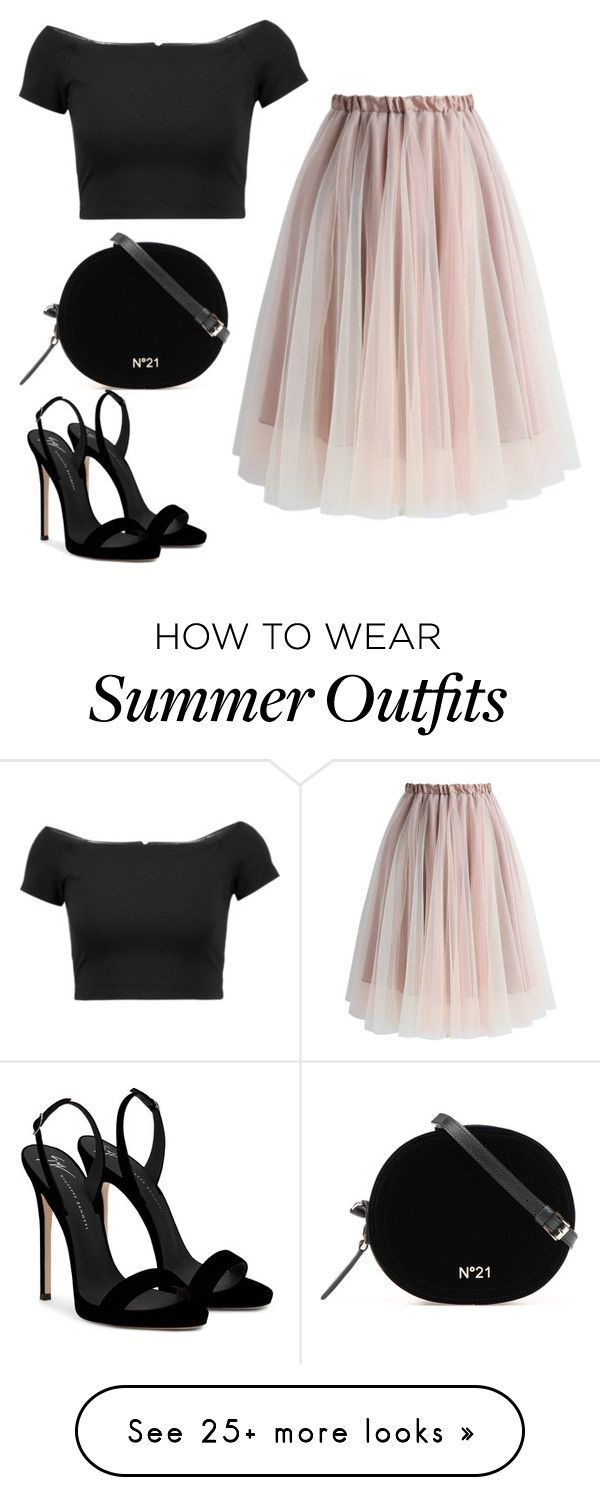 """Summer outfits: """"Untitled # 14"""" by bdalma99 on Polyvore with Chicwish, Alice + Olivia and Gi … – Fashion Inspire   Fashion inspiration magazines, beauty ideas, luxury, trends and more"""