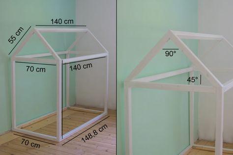 Hausbett selbst bauen deko pinterest kinderzimmer kinder bett und bett - Stapelbett selber bauen ...