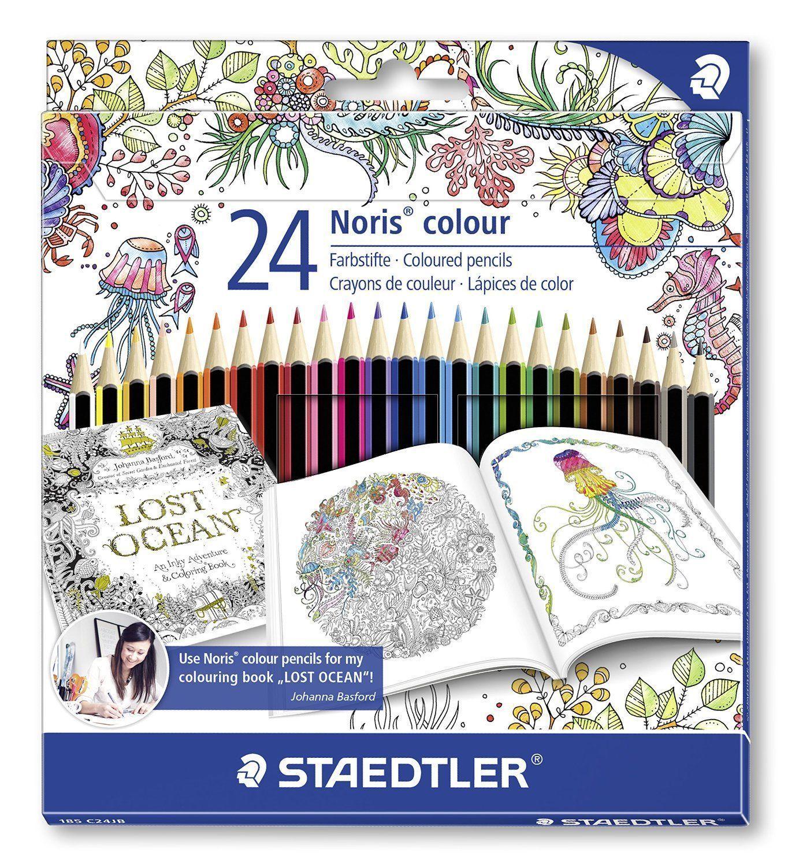 Staedtler 185 C24Jb Noris Colour Colouring 24 Pencils