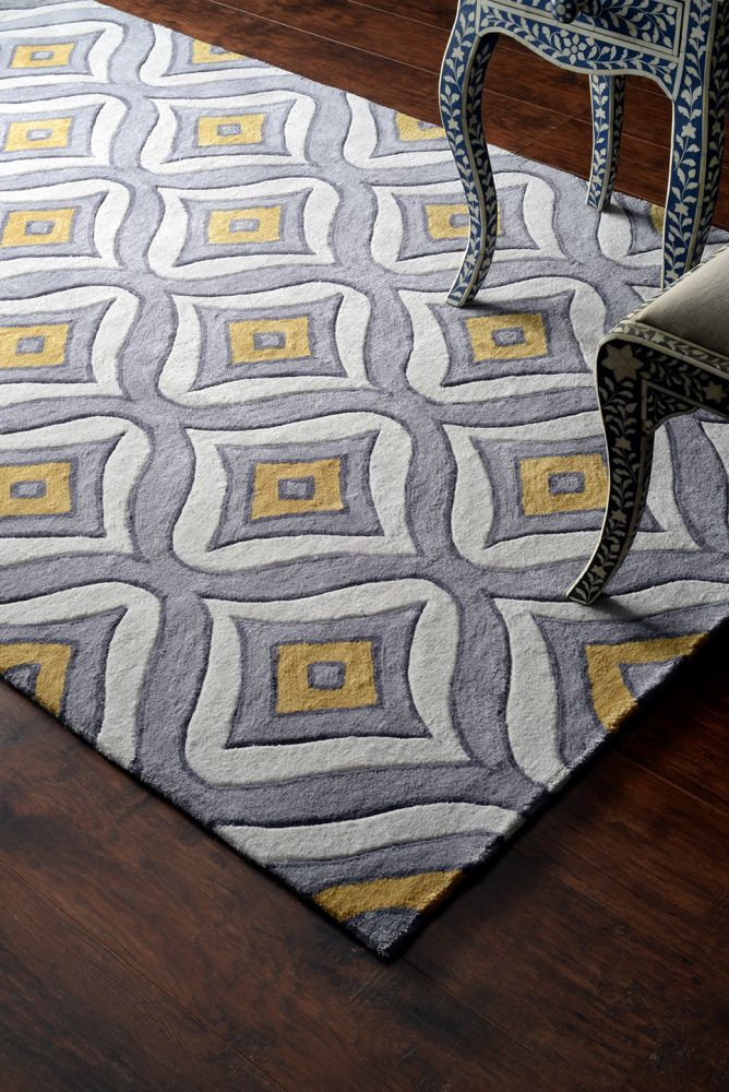 Rugs usa keno acr213 teal rug contemporary rugs trellis style pattern modern area rugs - Alfombras contemporaneas ...