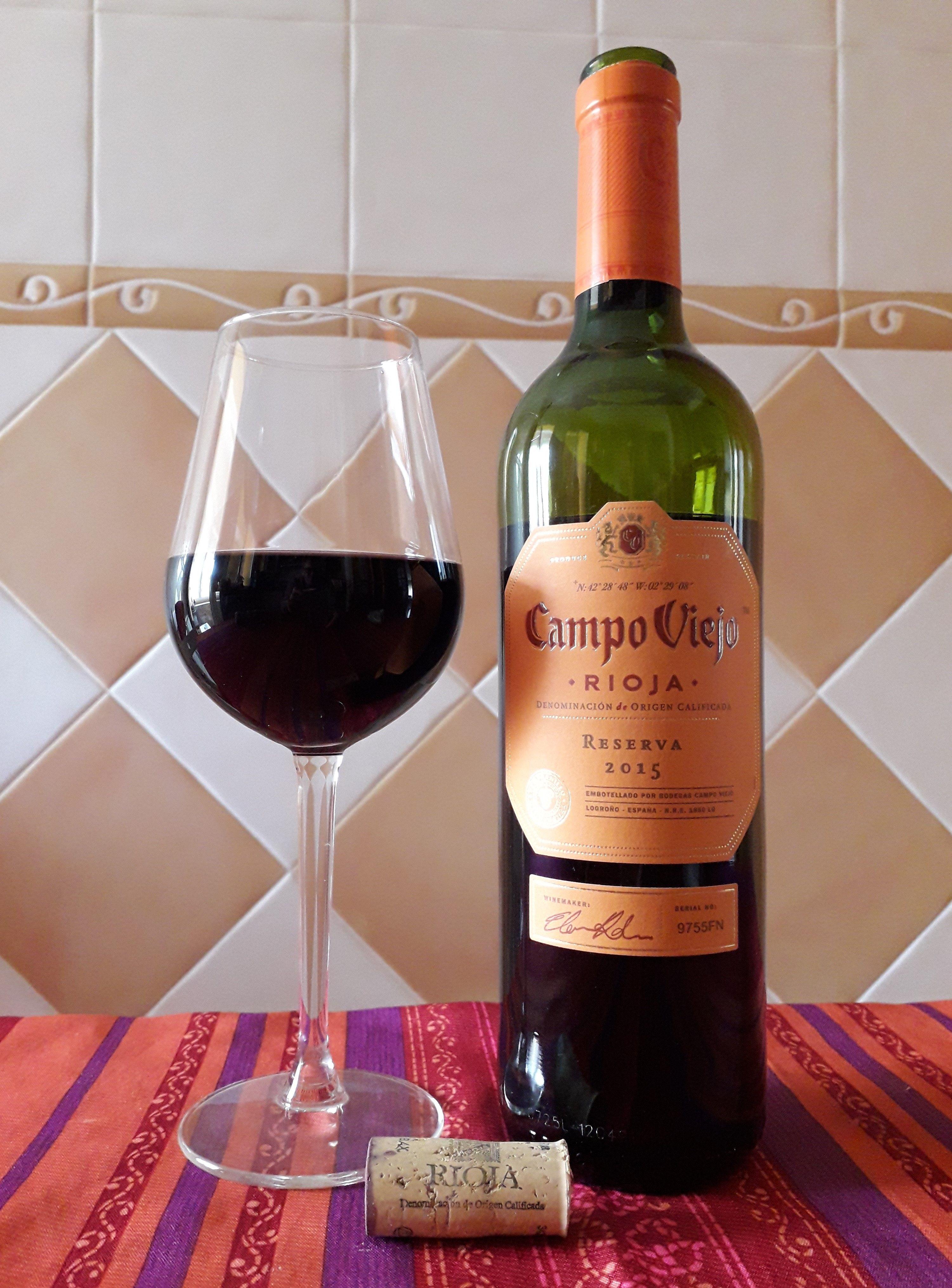 Campo Viejo Reserva 2015 Uvas Alcoholica Vinos
