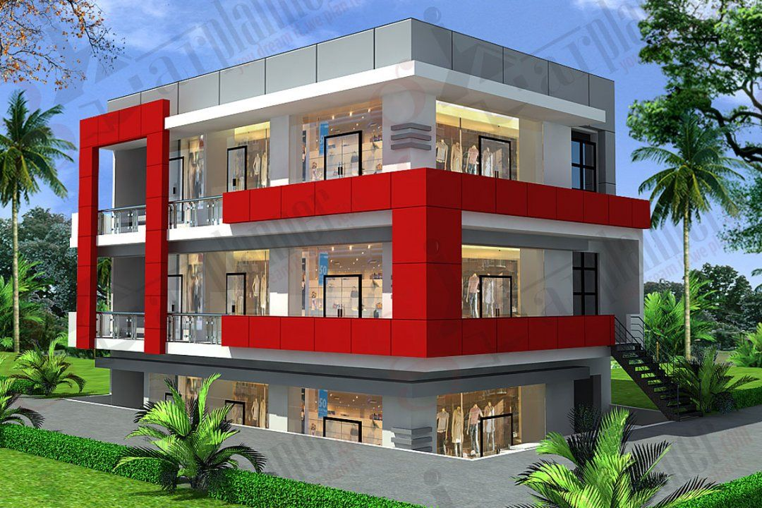 Commercial Building Plan Dwg Free Download House Designs Story Floor Plans Design Ideas Modern Two Stor Commercial Building Plans Building Design Building Plan