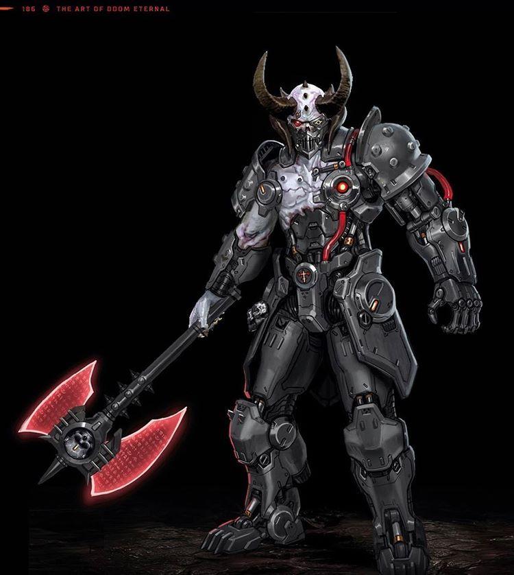 A Cyber Marauder Skin Doom Doometernal In 2020 Doom Videogame