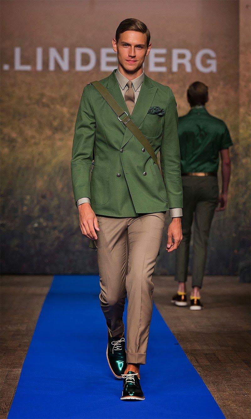 Belle combinaison avec du vert amande | J.Lindeberg S/S 2014 |