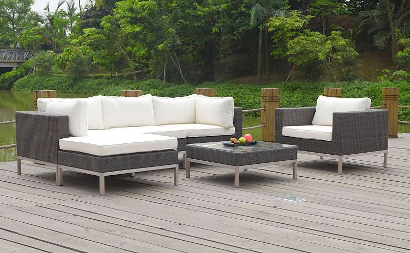 Rattan Lounge Gartenmöbel In Anthrazit Crema Big Nizza