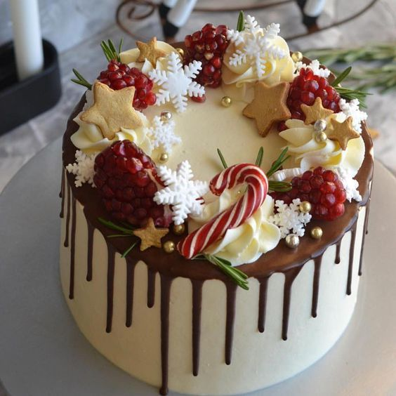 37 Awesome Christmas Cake Ideas to Make This Holiday Season - Page 6 of 37 - Veguci #savourycake