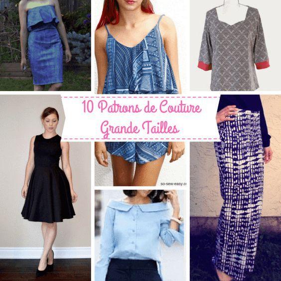 10 Patrons De Couture Gratuits Grandes Tailles Femmes !!!