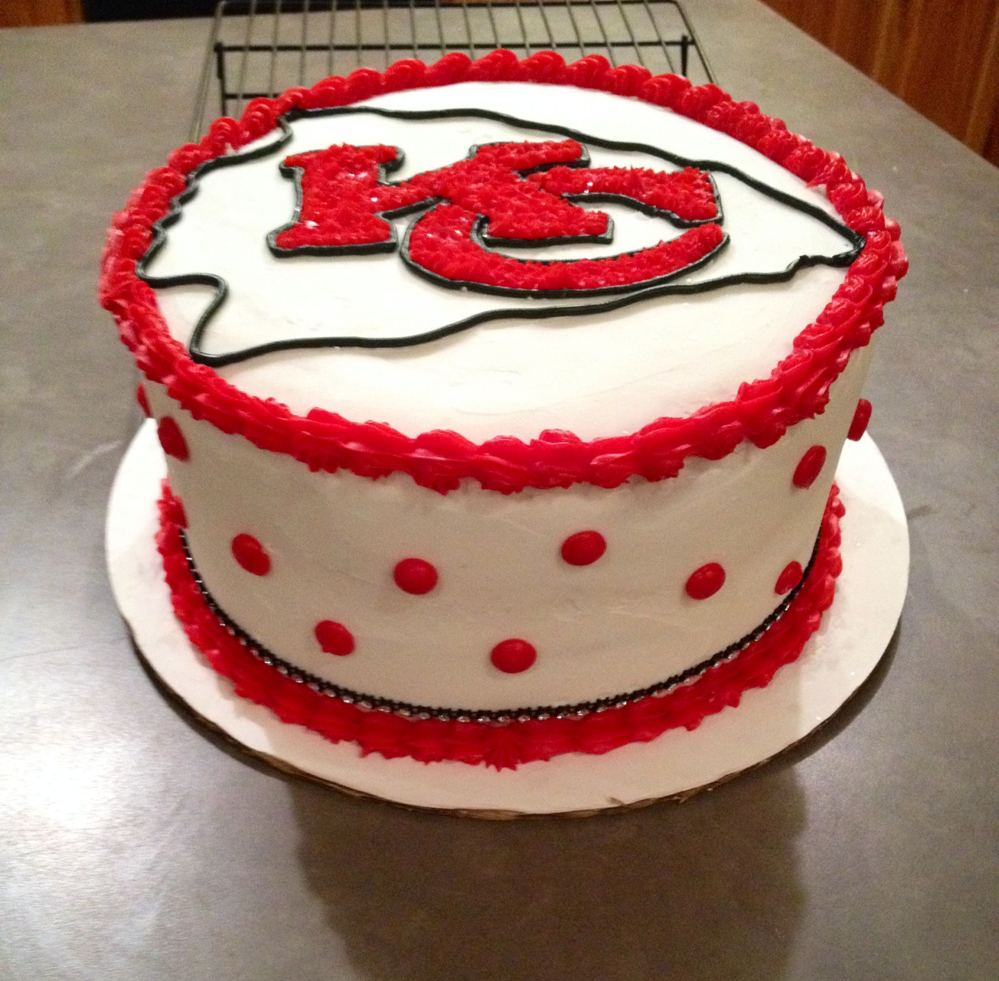 Chiefs Cake With Bling With Images Superbowl Cake