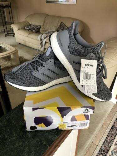 bb92b1933e27 Details about Men s Adidas Ultra Boost 4.0 Cloud White Grey Running ...