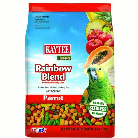 Fortidiet Rainbow Blend Parrot Food 5lb Rainbow fruit