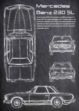 MercedesBenz 230 SL | Displate thumbnail