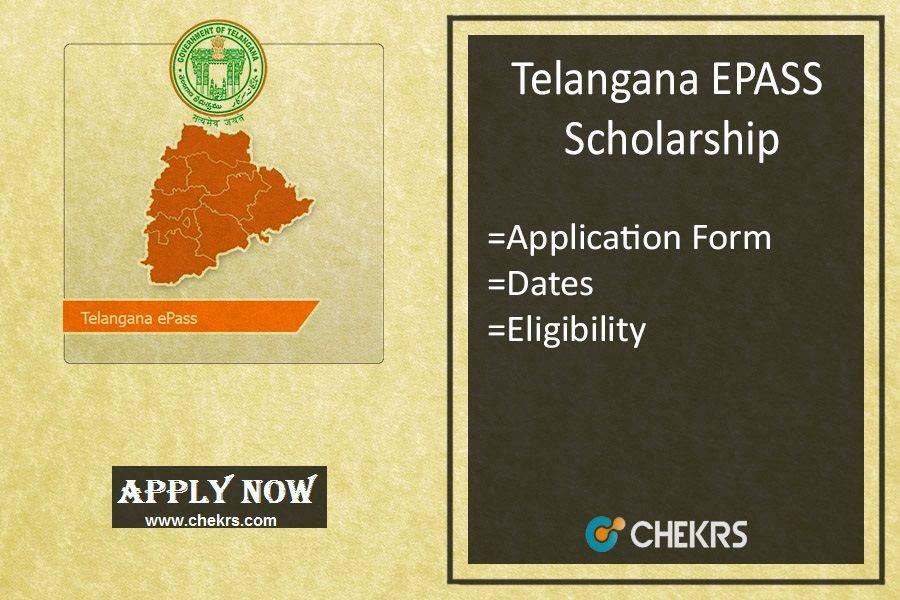 Telangana Epass Scholarship  Check Details