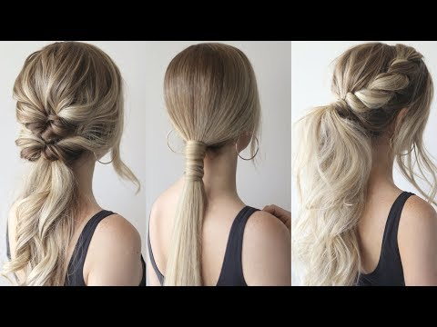 How To Easy Ponytails Perfect Prom Hairstyles 2019 Youtube In 2020 Elegant Ponytail Cute Ponytail Hairstyles Long Hair Styles