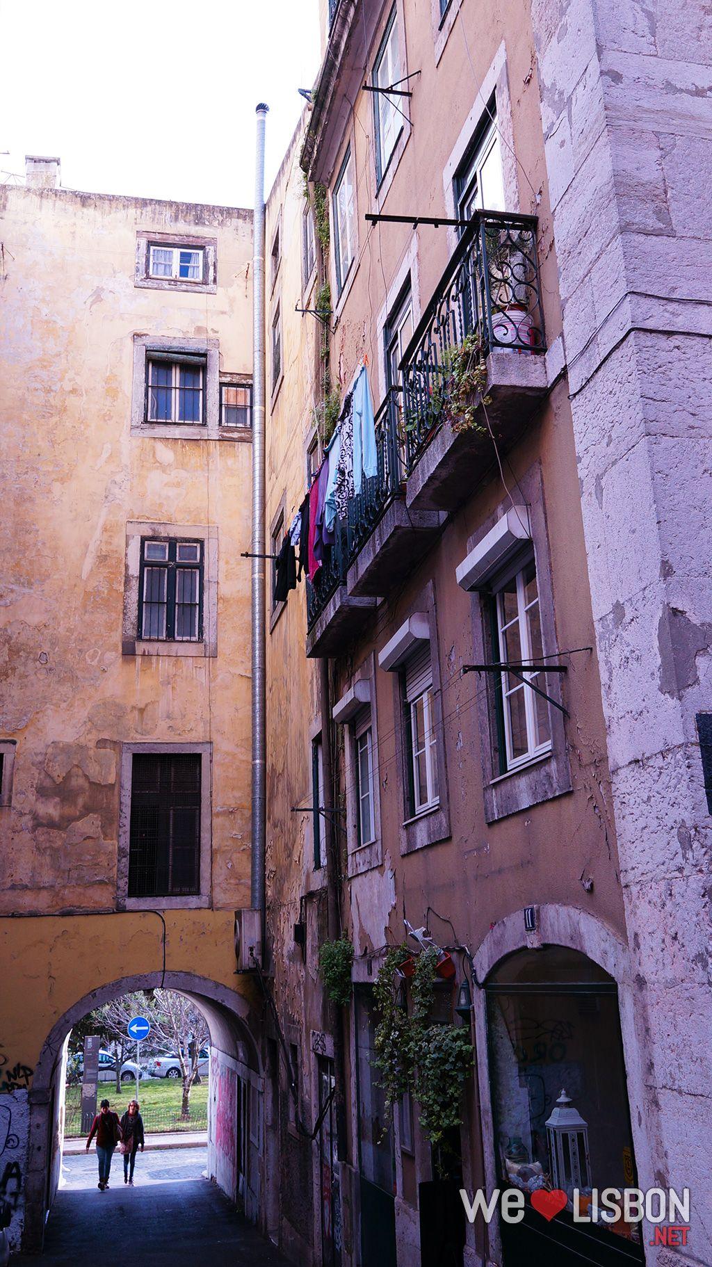 Alfama traditional neighbourhood in Lisbon Portugal