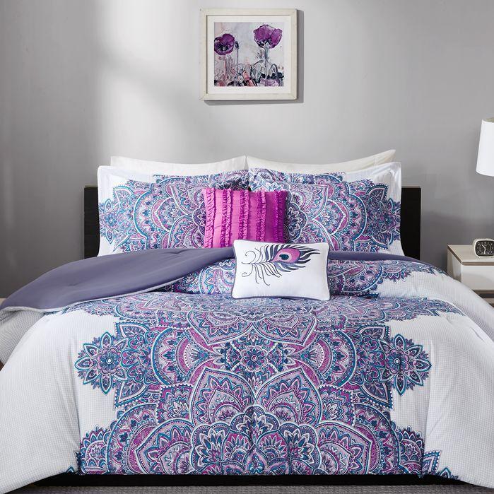 Akers Box Reversible Comforter Set in 2019 Bedding sets