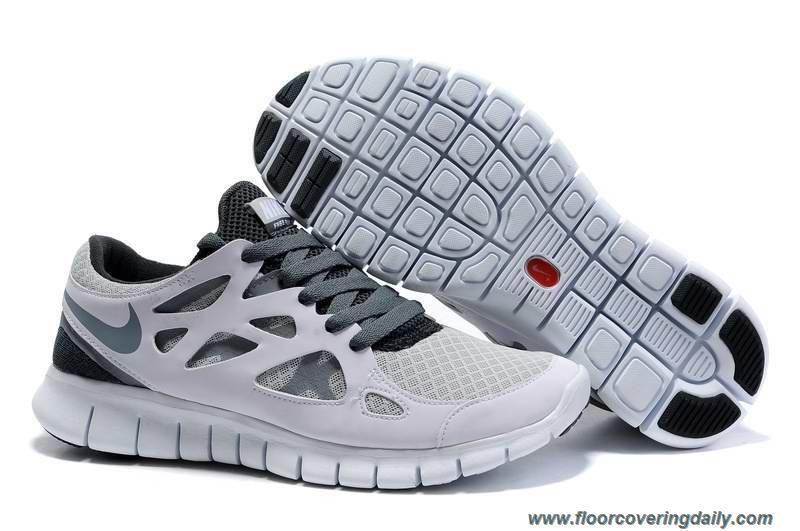 White Cool Grey Wolf Grey Nike Free Run 2 Womens 443815-100 Online