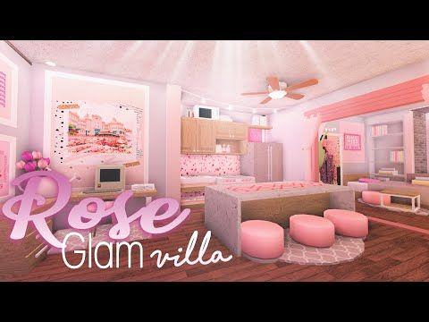 Roblox Bloxburg Elegant Rose Glam Villa House Build Youtube Unique House Design Building A House Tiny House Layout Bloxburg bedroom ideas pink