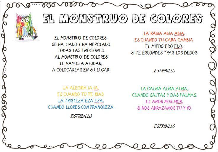 el monstruo de los colores - Buscar con Google | escuela | Pinterest ...