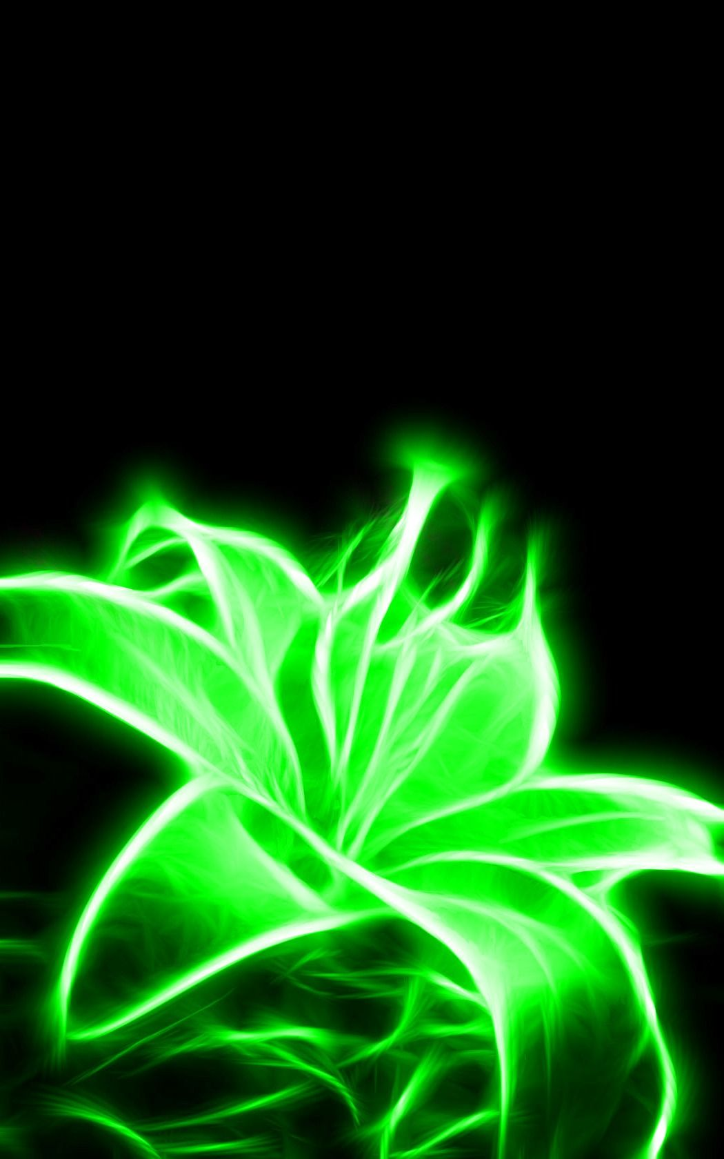 Glowing Neon Green Flower: i might get this for a tattoo ...