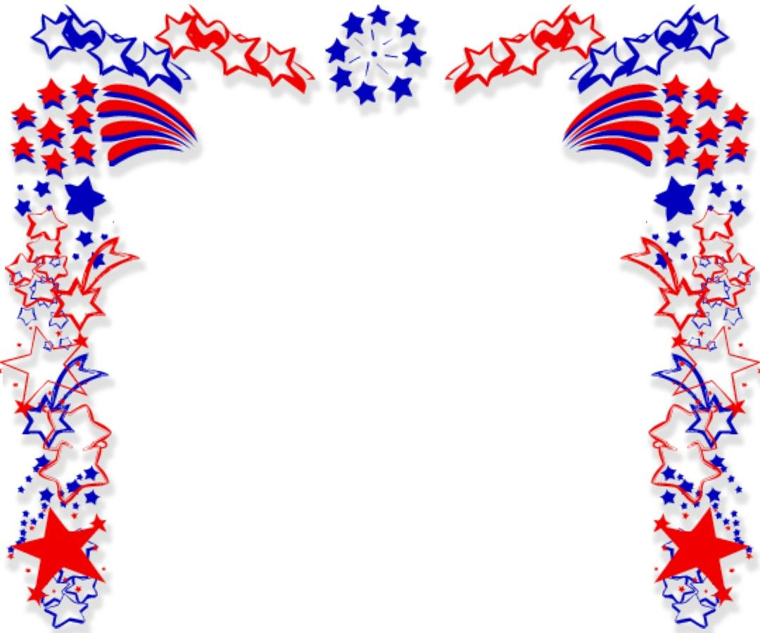 4th of july simple. Corner borders clip art