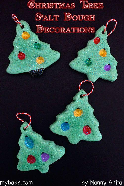 Christmas Tree Salt Dough Decorations Homemade decorations that