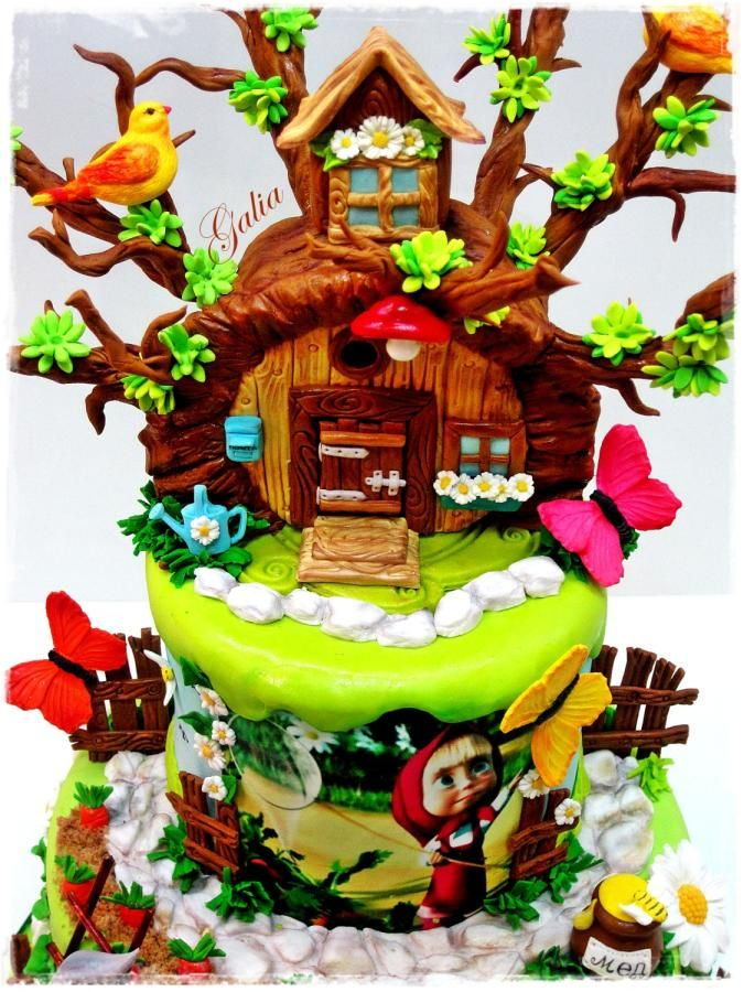 Masha and the Bear Cake by Galia Hristova Art Studio Masha and