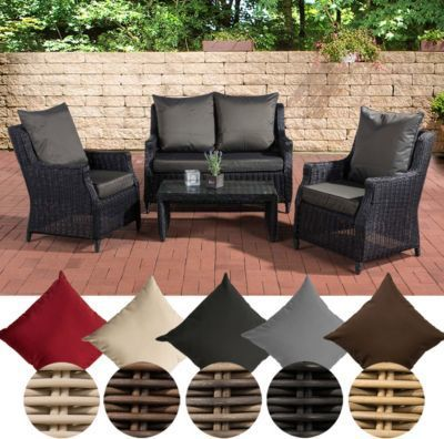 Beautiful Poly Rattan Loungeset Montero Alu Gestell Sessel Er Sofa With  Lounge Set Polyrattan