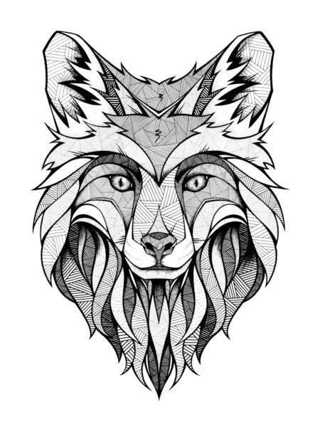 Fox Head Tattoo Designs