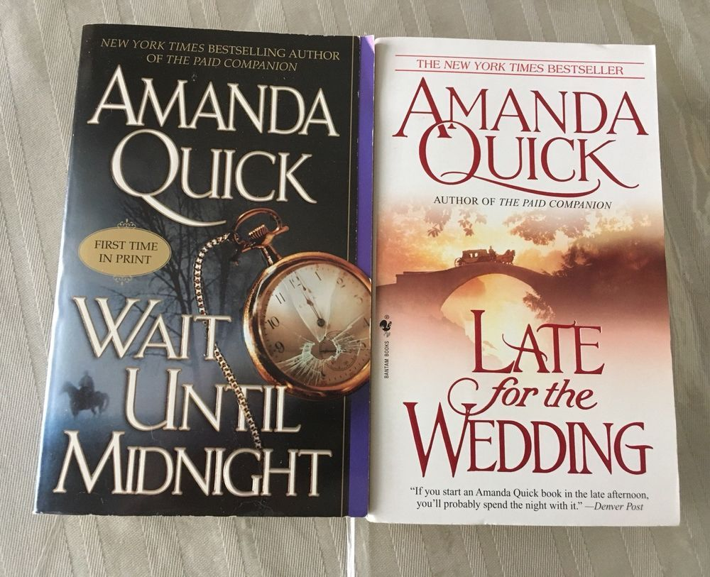 Lot Of 2 Amanda Quick Novels Wait Until Midnight Late For The Wedding