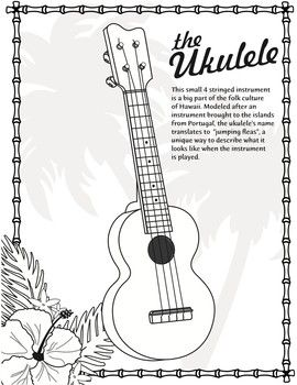 Ukulele Coloring Page World Music Classroom Rh Com Hot Dog Pages Of Puppies Playing Yo