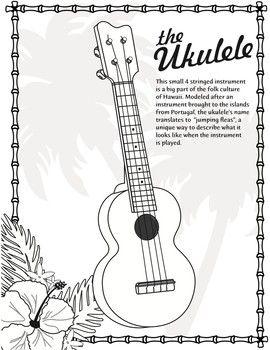 Ukulele Coloring Page Ukulele Coloring Pages Ukulele Design