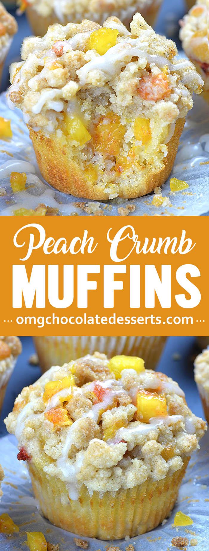Photo of Peach Crumb Muffins