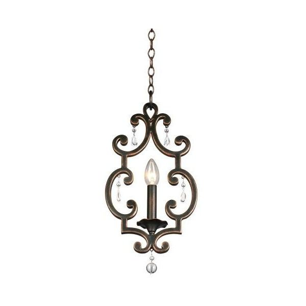 Kalco 2630AC Montgomery 1 Light Mini Pendant Antique