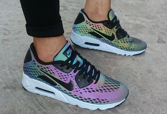 hot sale online 3c1a3 d55c5  Nike Air Max 90 Ultra Moire Holographic  sneakers