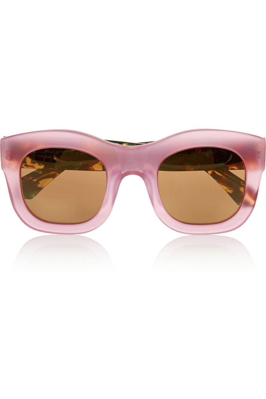Illesteva | Hamilton D-frame acetate mirrored sunglasses | NET-A ...