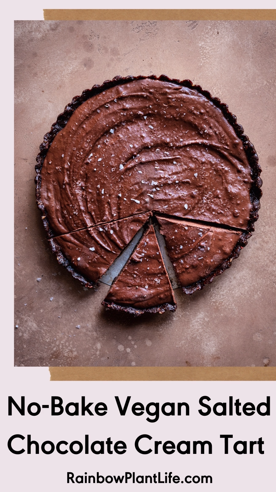 Vegan Salted Chocolate Cream Tart