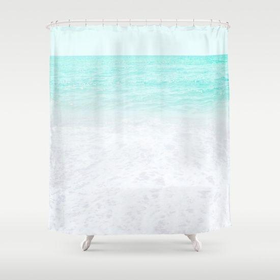 Sea Foam Shower Curtain By Artbyjwp 68 00 Curtains Shower