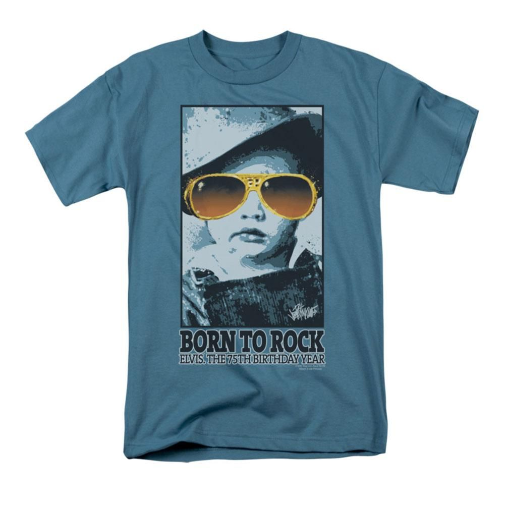 Elvis Presley BLUE SUEDE FADE Licensed Adult T-Shirt All Sizes