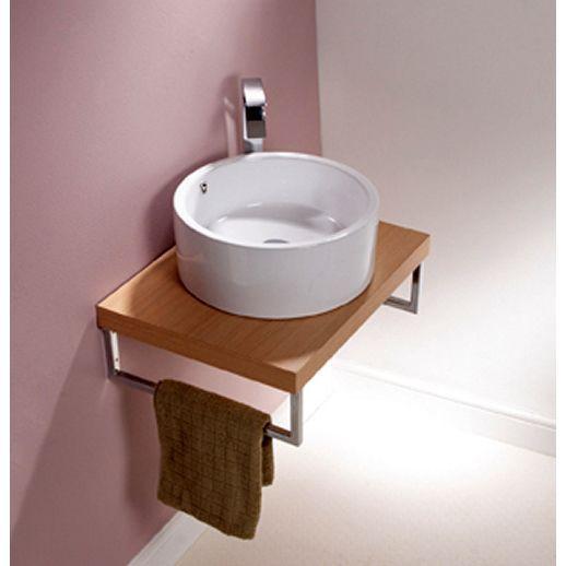 Origins Round Countertop Basin With Overflow Countertop Bathroom