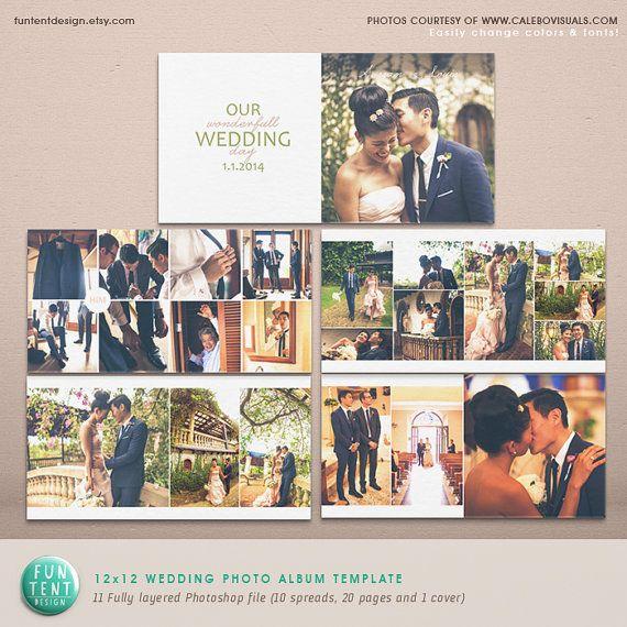 Wedding Album Photoshop Template Modern Clean Di FUNTENTDESIGN 2900