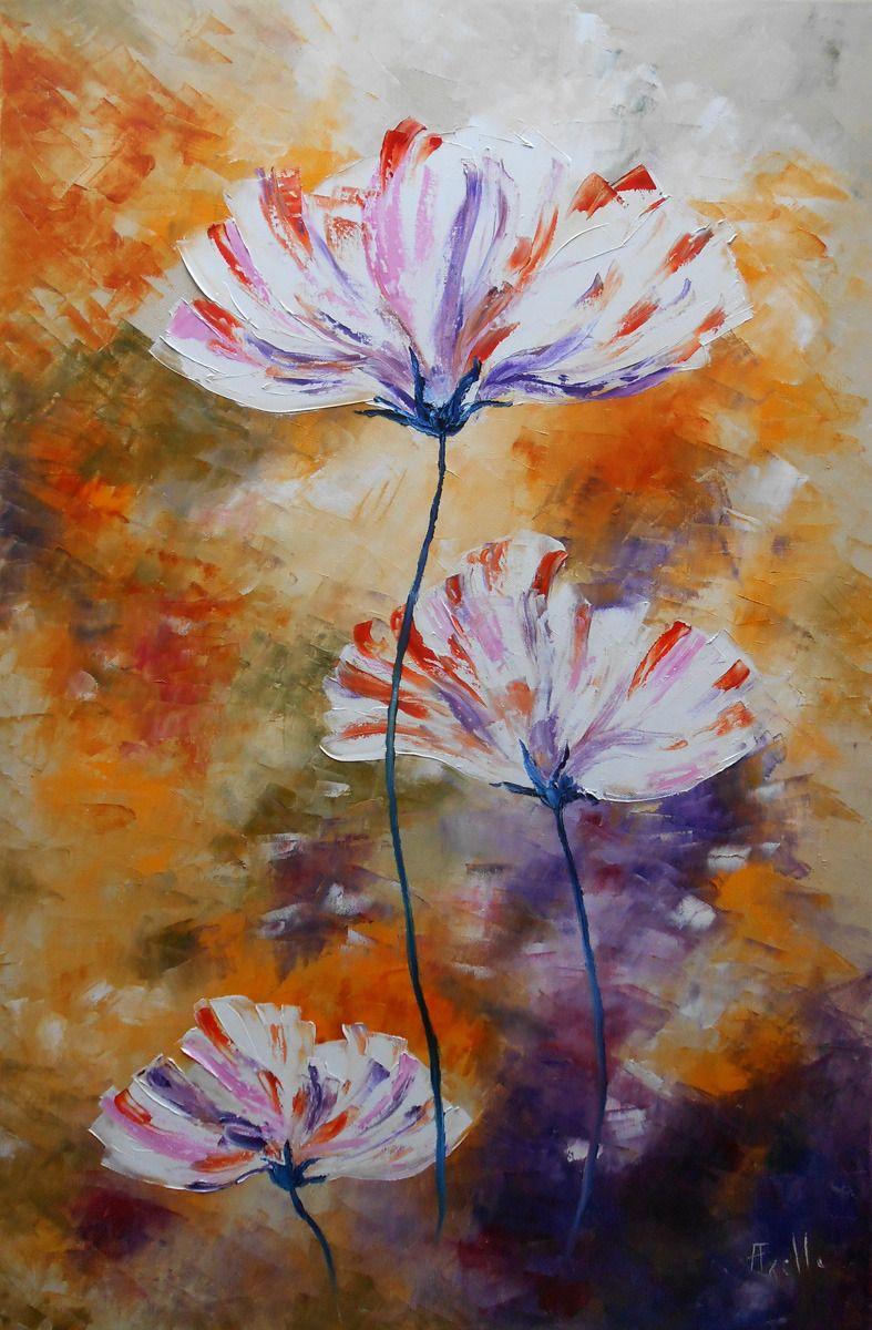 Tableau Fleurs De Doux Reves Grand Format Peintures Axelle