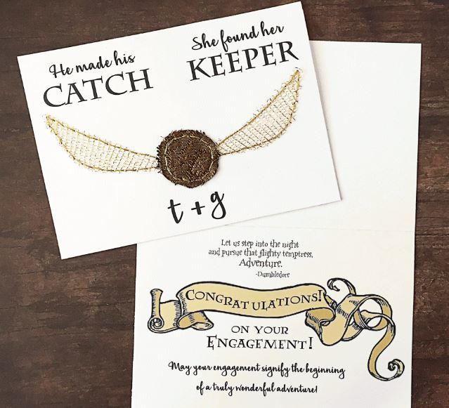 Harry Potter Themed Printable Wedding Cards Diy