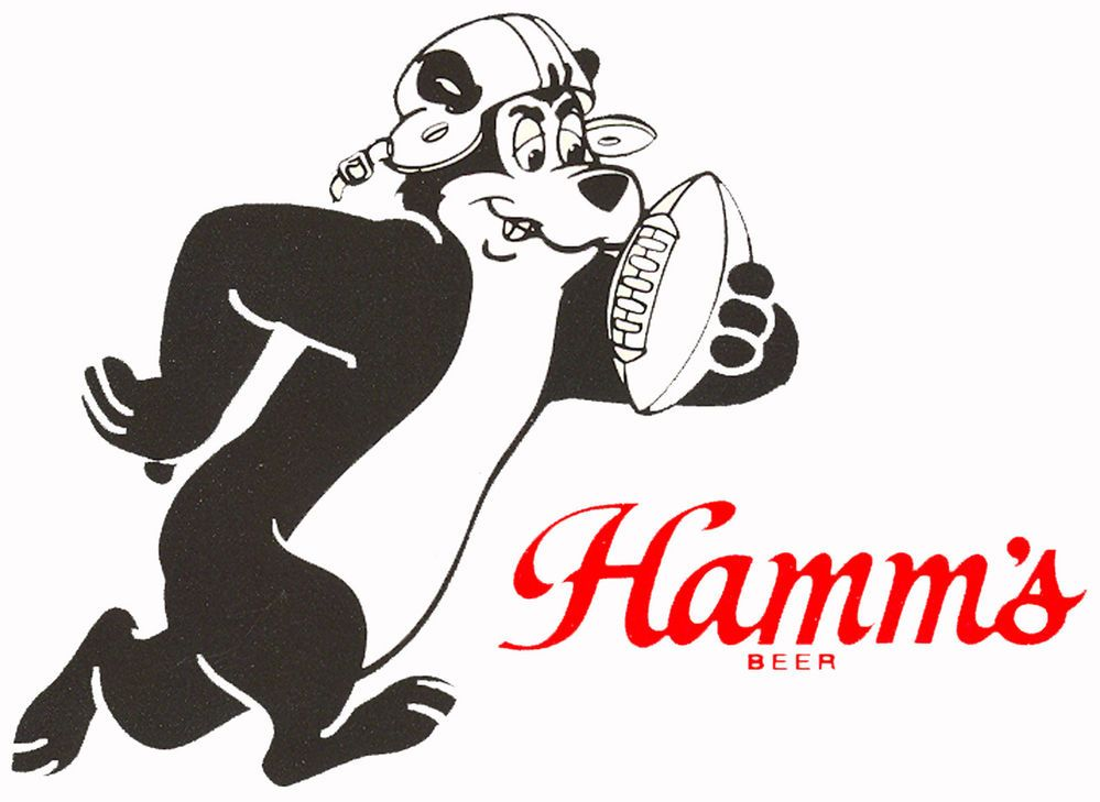 HAMM'S BEER  FOOTBALL BEAR BEER T SHIRT SIZES SMALL-XXXLARGE (F)