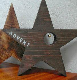 Haus voller Ideen: Adventsstern aus Holz #holzideenweihnachten