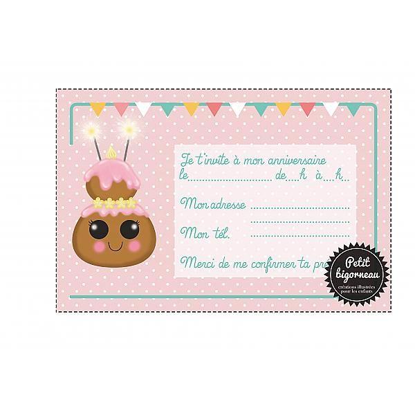 carte invitation anniversaire pdf a