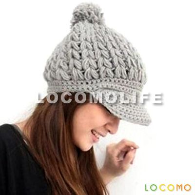 Women Slouchy Cabled Pattern Knit Beanie Crochet Rib Hat Brim Cap ...