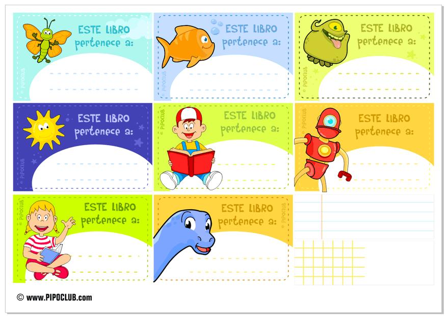 Etiquetas Para Libros De Niños Desde El Blog De #Pipo
