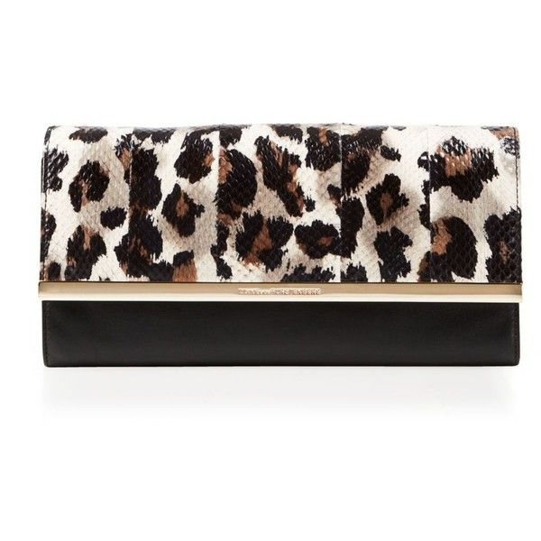 DIANE von FURSTENBERG Clutch - Bloomingdale's Exclusive Voyage Leopard... ($328) ❤ liked on Polyvore